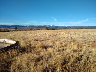 Sangre de Cristo Mountains from a high pasture near Rainesville, NM.